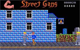 In game image of Street Cat on the Atari ST.