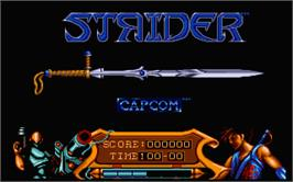 In game image of Strider 2 on the Atari ST.