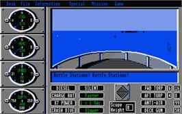In game image of Sub Battle Simulator on the Atari ST.