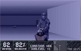 In game image of Substation on the Atari ST.