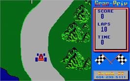 In game image of Super Grand Prix on the Atari ST.