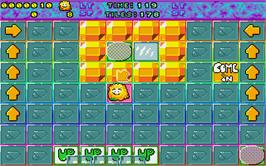 In game image of Super Skweek on the Atari ST.
