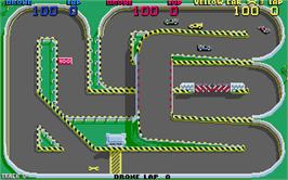In game image of Super Sprint on the Atari ST.