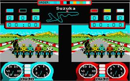 In game image of Superbike Challenge on the Atari ST.