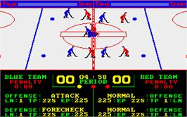 In game image of Superstar Ice Hockey on the Atari ST.