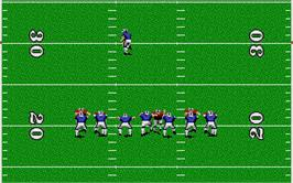 In game image of TV Sports Football on the Atari ST.
