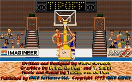 In game image of Tee Off on the Atari ST.