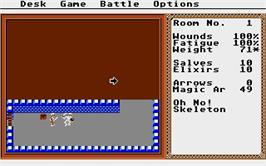 In game image of Temple of Apshai Trilogy on the Atari ST.