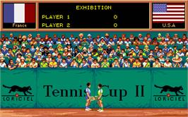 In game image of Tennis Cup 2 on the Atari ST.
