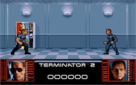 In game image of Terminator 2 - Judgment Day on the Atari ST.