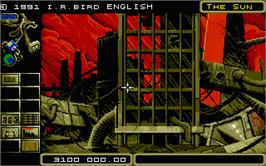 In game image of Terrorpods on the Atari ST.