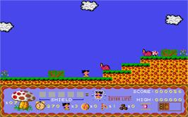 In game image of Terry's Big Adventure on the Atari ST.