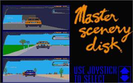 In game image of Test Drive II Car Disk: Musclecars on the Atari ST.