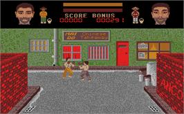 In game image of Thai Boxing on the Atari ST.
