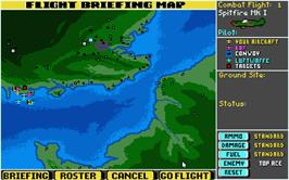 In game image of Their Finest Hour: The Battle of Britain on the Atari ST.