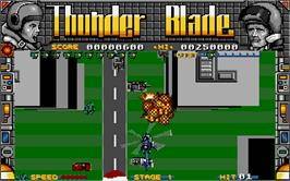 In game image of Thunder Blade on the Atari ST.