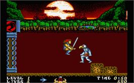 In game image of Thundercats on the Atari ST.