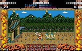 In game image of Tiger Heli on the Atari ST.