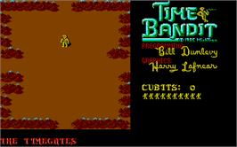 In game image of Time Bandit on the Atari ST.