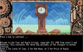 In game image of Time and Magik: The Trilogy on the Atari ST.