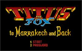 In game image of Titus the Fox: To Marrakech and Back on the Atari ST.