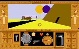 In game image of Total Eclipse on the Atari ST.