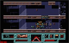 In game image of Total Recall on the Atari ST.
