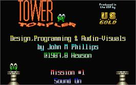 In game image of Tower Toppler on the Atari ST.