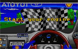 In game image of Toyota Celica GT Rally on the Atari ST.