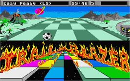 In game image of Trail Blazer on the Atari ST.