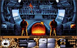 In game image of Transarctica on the Atari ST.