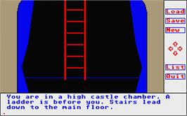 In game image of Transylvania on the Atari ST.
