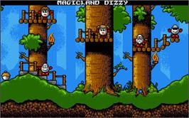 In game image of Treasure Island Dizzy on the Atari ST.