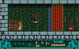 In game image of Treasure Trap on the Atari ST.