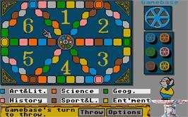 In game image of Trivial Pursuit on the Atari ST.