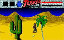 In game image of Tusker on the Atari ST.
