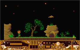 In game image of TwinWorld: Land of Vision on the Atari ST.