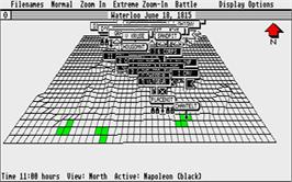In game image of UMS: The Universal Military Simulator on the Atari ST.