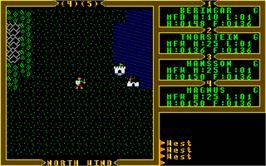 In game image of Ultima III: Exodus on the Atari ST.