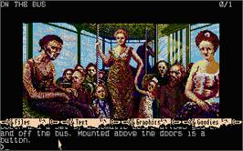 In game image of Uninvited on the Atari ST.