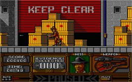 In game image of Untouchables on the Atari ST.