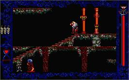 In game image of Vampire's Empire on the Atari ST.