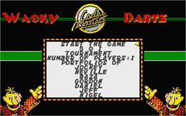 In game image of Wacky Darts on the Atari ST.