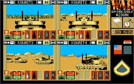 In game image of War in the Gulf on the Atari ST.