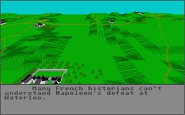 In game image of Waterloo on the Atari ST.