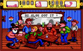 In game image of Western Games on the Atari ST.