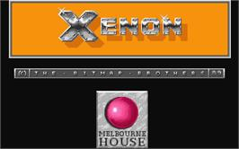 In game image of Xenon on the Atari ST.