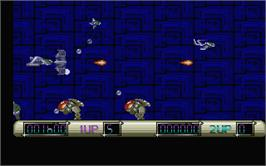 In game image of Z-Out on the Atari ST.