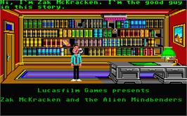 In game image of Zak McKracken and the Alien Mindbenders on the Atari ST.