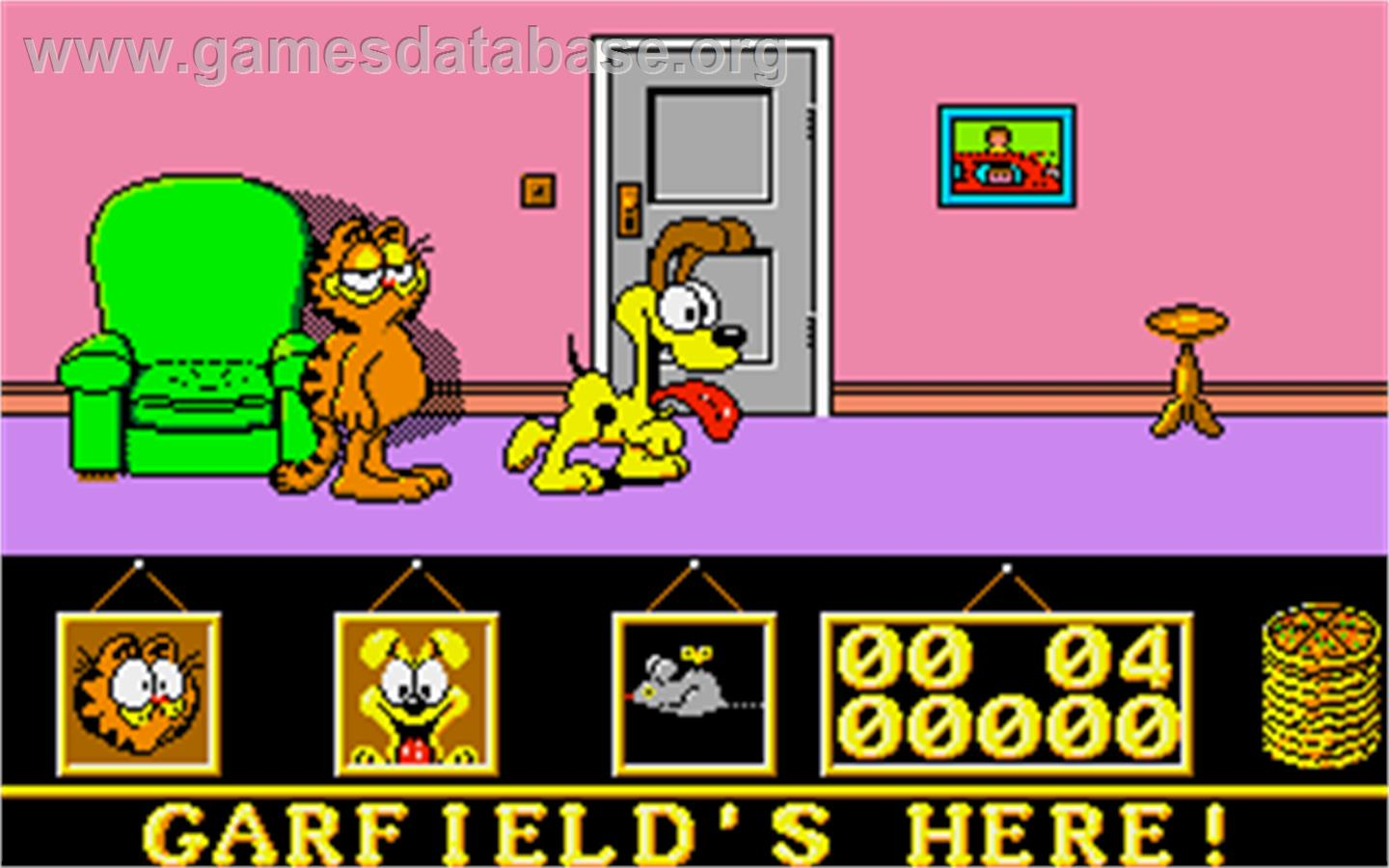 Garfield: Big, Fat, Hairy Deal - Atari ST - Artwork - In Game